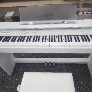 電子ピアノホワイトCASIO - 家電