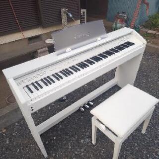 電子ピアノホワイトCASIO - ふじみ野市