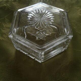 六角形ガラス皿