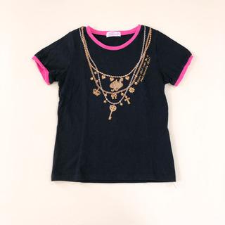 130 ネックレス プリントTシャツ