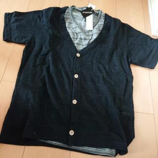 メンズ 二点セット Tシャツ カーディガン