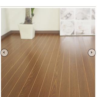 ☆新品・未使用☆ ウッドカーペット 6畳江戸間 濃いブラウン