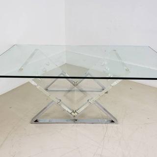 ガラスローテーブル 東京 神奈川 同時購入 送料無料