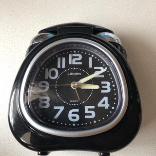 【値下げ】目覚まし時計 ブラック