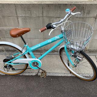 [かなり綺麗] 22インチ  6段変速  自転車  LEDライト...