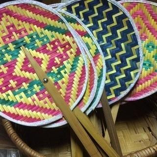 ☆竹で編まれたうちわ☆Sサイズ  浴衣にも合います