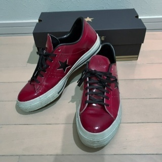 CONVERSE ONE STAR レザー赤 輪島塗 US8.5...