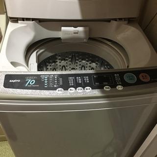 ※終了※【配送・設置可能】7.0kg 洗濯機 ステンレス槽 サンヨー