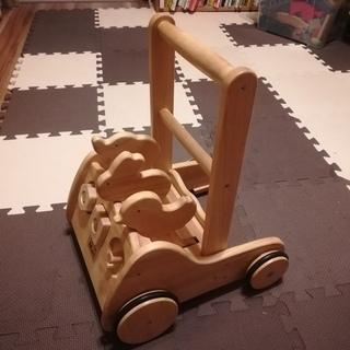 木製 手押し車
