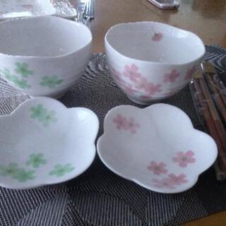 【未使用】夫婦ご飯茶碗と小鉢お箸
