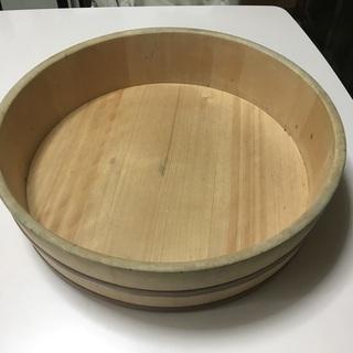寿司桶 ひのき 寿司飯台 銅箍 37cm外径 10cm高 中古