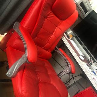 本革社長椅子 定価35,000円 オフィスチェア レッド