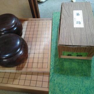 碁石と碁盤セット 2つ 碁石台 1つ