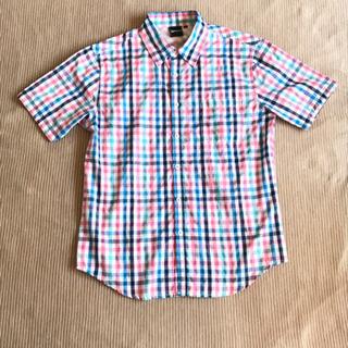 半袖チェックシャツ Mサイズ