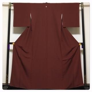 美品 未使用 ボルドー 身丈160 裄64.5 極上 正絹 色...