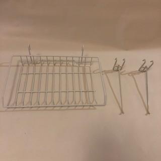 ワイヤー収納棚 フック