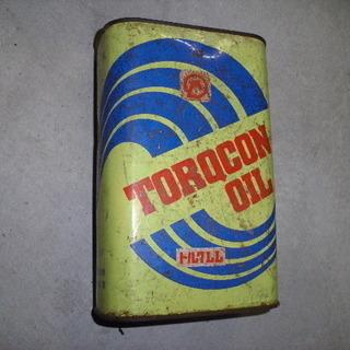 古いオイル缶(空缶)当時物