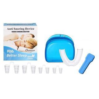 いびき防止 歯ぎしり対策 小顔 ノーズピン 4個 マウスピース1...