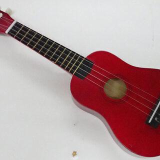 札幌市 楽器 ミニギター ウクレレ オブジェ 全長54cm 中古...