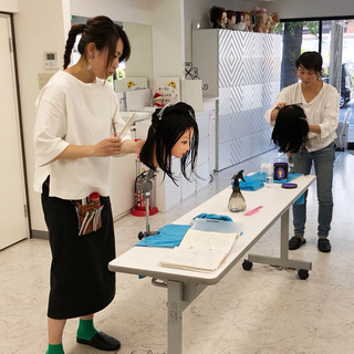 美容師に戻りたいママの練習会『ママスタスクール』
