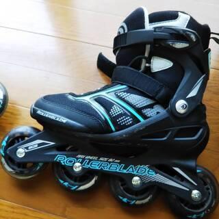 インラインスケート ローラーブレード 24cm プロテクター3点...