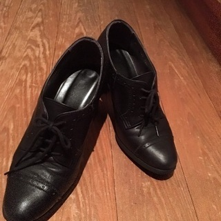DIANA ダイアナ 黒 シューズ 革靴