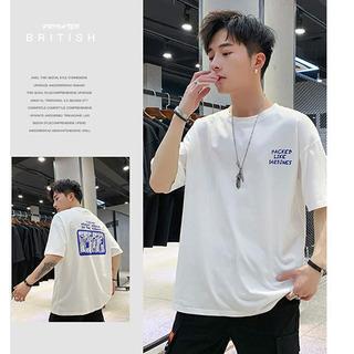 新品★ゆったりサイズ カッコいい Tシャツ 半袖  绵100%