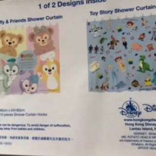 香港ディズニー シャワーカーテン2種類(非売品)