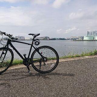 新松戸近辺、クロスまたはロードバイクでのんびり走る人