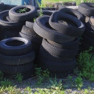 畑 田んぼ や 敷地 置き場の 土止めに どどめ タイヤ