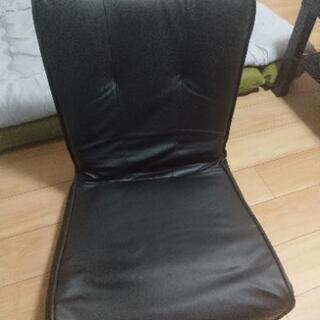 高級仕様☆黒皮製のリクライニング座椅子☆