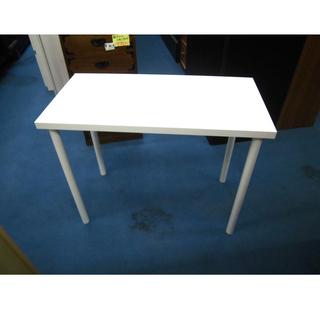 札幌 シンプルなデスク ホワイト/白 デスク 机 テーブル…
