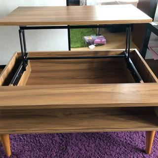 可動式天板のローテーブル - 家具