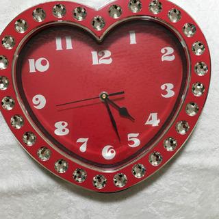ハートの掛時計