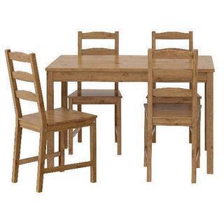 【中古】IKEA テーブル&チェア4脚セット