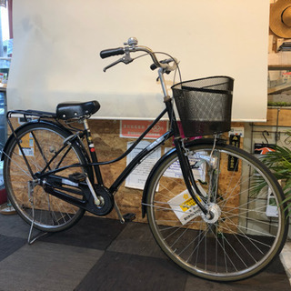 【LEDオートライト】27インチ自転車 ブラック