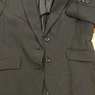 【美品】スーツ 黒 ストライプ パンツ 上下2点セット
