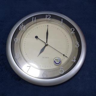掛け時計 シルバー