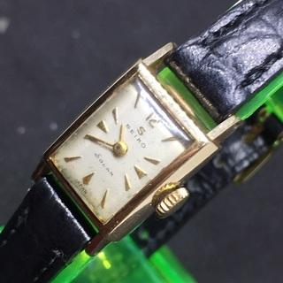 SEIKO セイコー 14金貼 ソーラー 手巻き腕時計 レディー...
