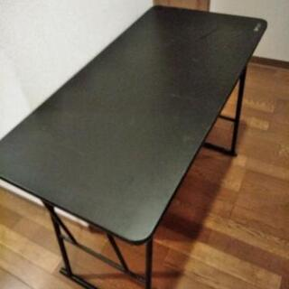 折り畳みテーブル 黒