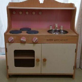 木製おもちゃのキッチン