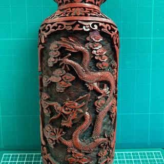 庄梅-中国美術 堆朱 花瓶 時代