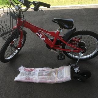 子供用自転車★ジャンク★18インチ★キッズ★Fila★赤