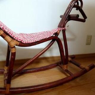 レトロ 籘製 木馬