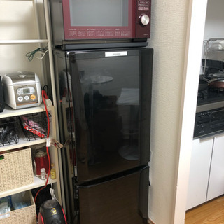 【中古美品】三菱 冷凍冷蔵庫 サファイアブラック