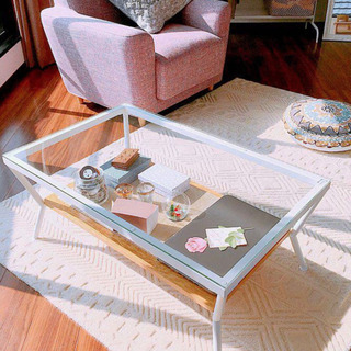 Francfranc ガラステーブル メリオル コーヒーテーブル