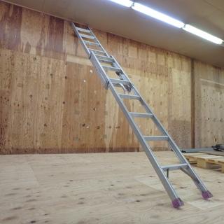 アルインコ ハンディロック式2連はしご ANP-40FD 使用時 全長 約4000mm はしご ロック式 梯子 アルミ脚立 洗車 軽量 ステップ台 窓ふき 工事 工具 道具 中古品 - 岩沼市