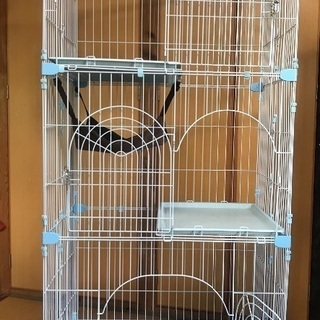 猫用 ゲージ 三段