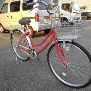 中古自転車652(防犯登録600円無料)  前後タイヤ交換!26...