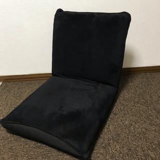 【取引完了】座椅子 リクライニング可 ブラック 黒